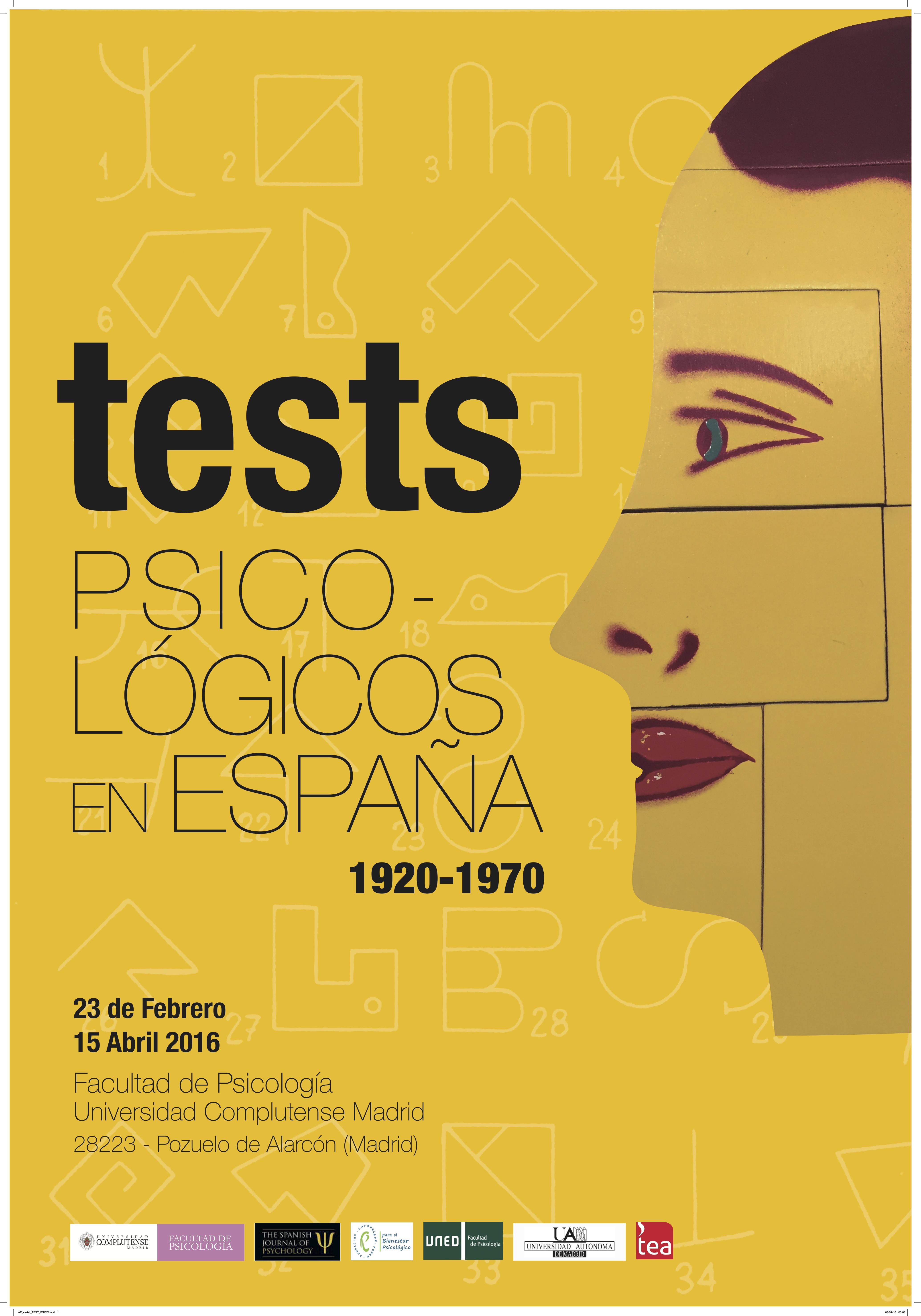 CARTEL EXPOSICIÓN TESTS PSICOLÓGICOS 1920-1970